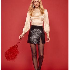 NEW!! Reformation Quinn Skirt - Noir